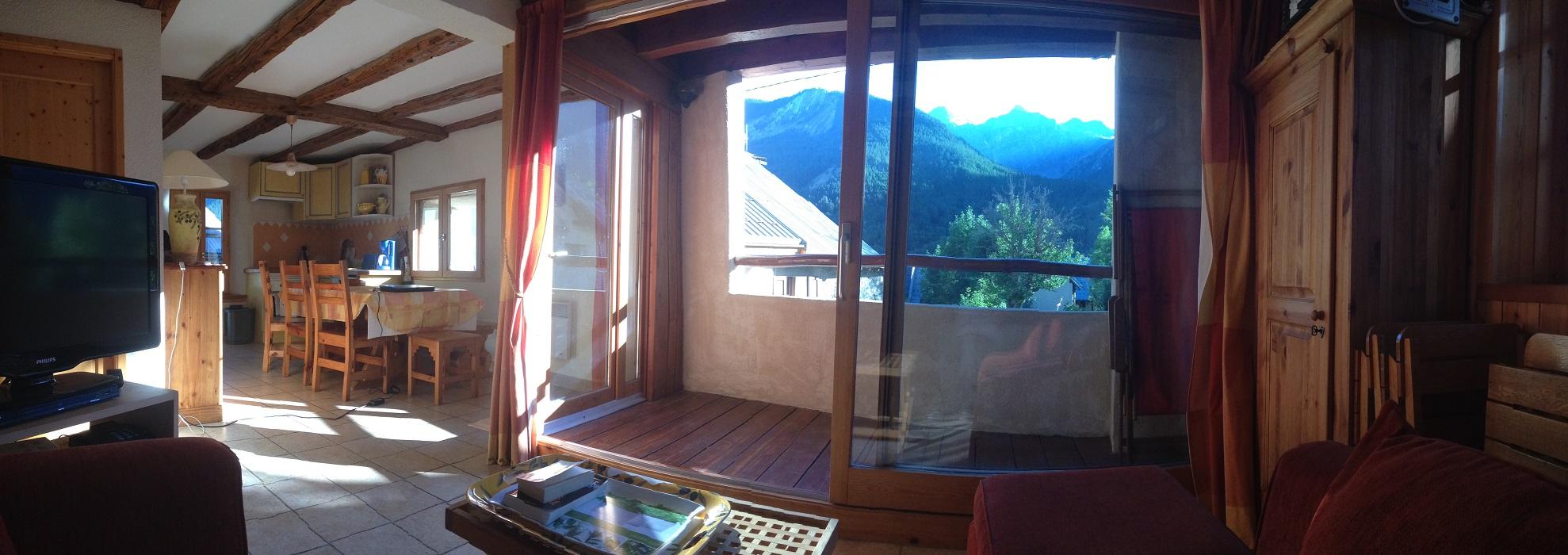 location serrechevalier 1500 appartement avec terrasse la montagnole vue panoramique meublé