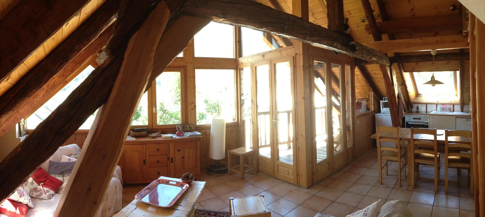 location serrechevalier 1500 aya appartement avec terrasse vue panoramique terrasse soleil le monetier les bains