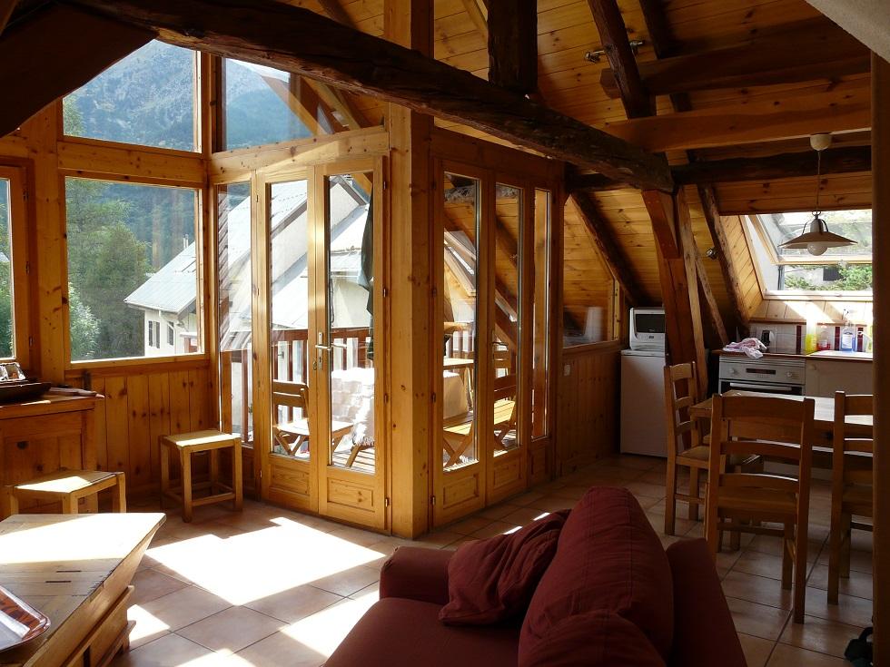 location appartement aya 6 personnes serre chevalier 1500 appartement meublé Aya terrasse le monêtier les bains