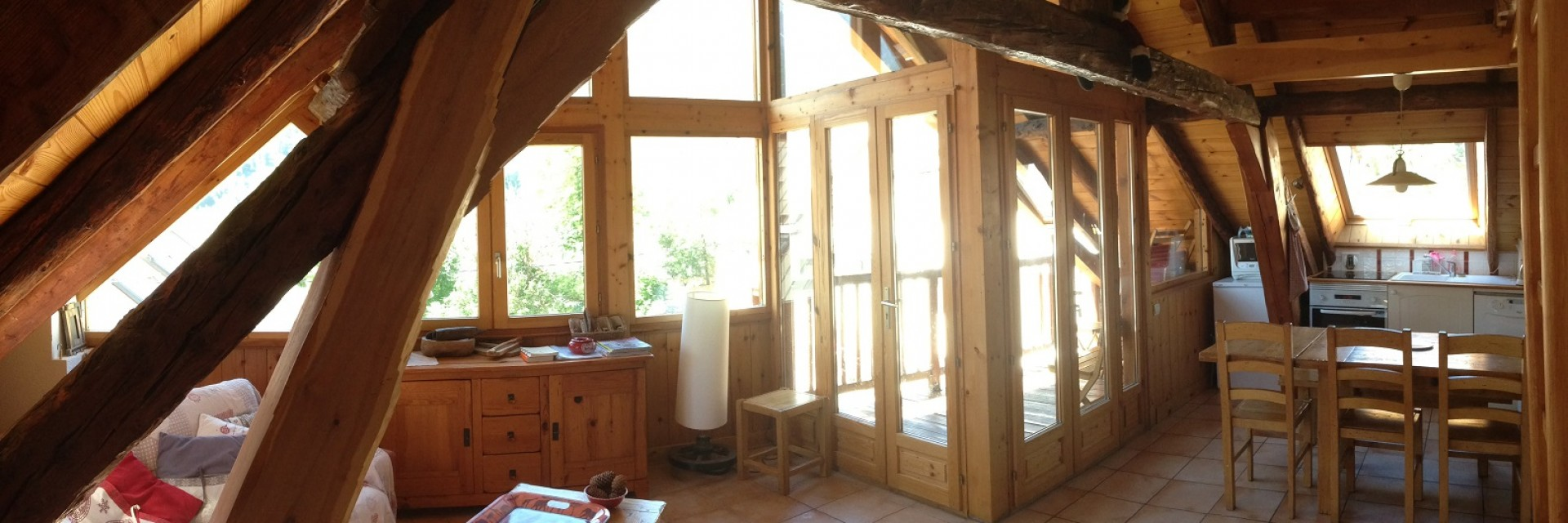 location appartement aya terrasse serre chevalier 1500 AYA alpaga blanc